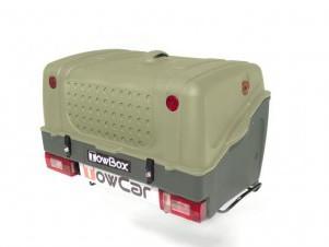 Gepäckbox TowBox V1 auf Anhängerkupplung AHK grün