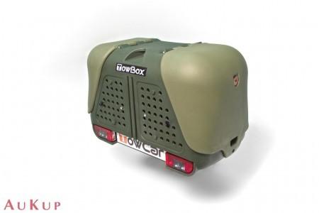 Hundebox Towbox Dog V2 Anhängerkupplung AHK grün