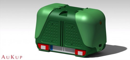 Gepäckbox Towbox V2 Anhängerkupplung AHK grün