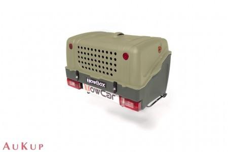 Hundebox TowBox V1 auf Anhängerkupplung AHK grün
