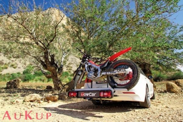 Heckträger auf AHK für Kleinkraftrad, Roller, Trial, Motorrad