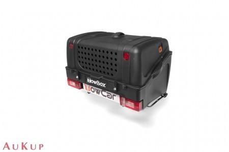 Hundebox TowBox V1 auf Anhängerkupplung AHK schwarz