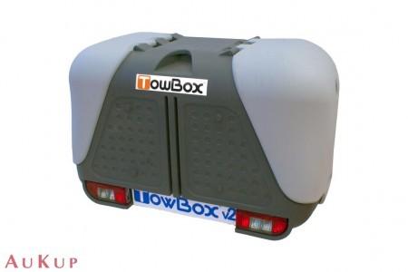 Gepäckbox Towbox auf AHK Ford Transit Wohnmobile