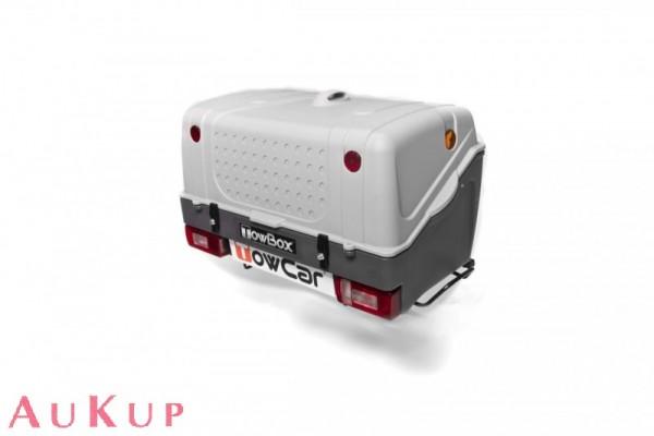 Gepäckbox TowBox V1 auf Anhängerkupplung AHK grau