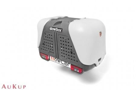 Hundebox Towbox Dog V2 Anhängerkupplung AHK grau