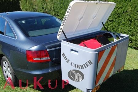Gepäckbox schwenkbar auf Anhängerkupplung